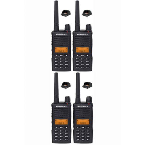 Set van 4 Motorola XT660D IP54 Digitale PMR446 Portofoon met tafellader