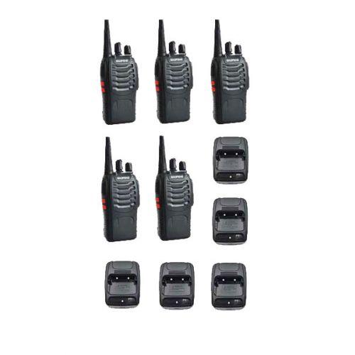 Set van 5 Baofeng BF-888s UHF 5Watt Portofoons