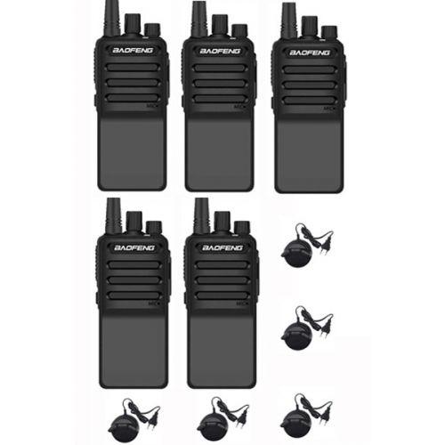 Set van 5 Baofeng C2 UHF 5Watt portofoons