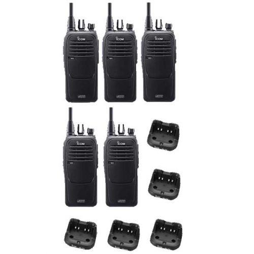 Set van 5 Icom IC-F29DR2 Digitaal DPMR en PMR446 IP67 portofoons