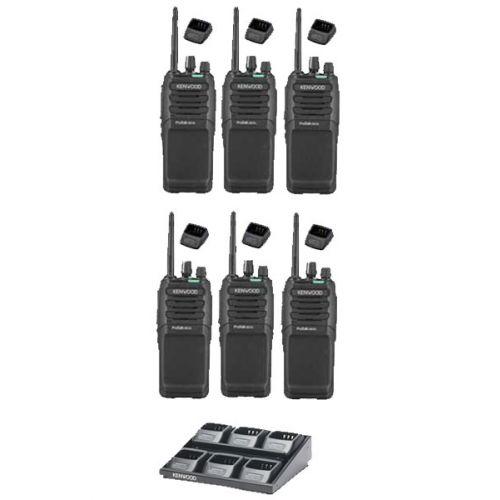 Set van 6 Kenwood TK-3701D IP55 Portofoon met multilader