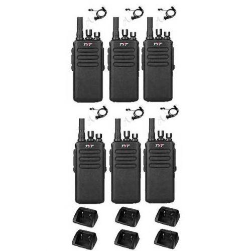 Set van 6 stuks TYTERA MD-680 DMR portofoons met beveiliging oortje