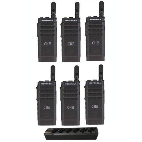Set van 6 stuks Motorola SL1600 met multilader