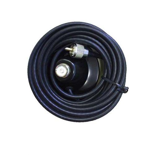 Standaard magneetvoet met 5m Coax en PL