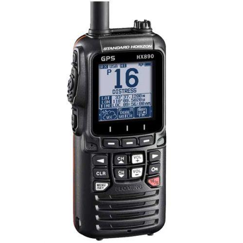 Standard Horizon HX-890E Hand Marifoon IPX8 met GPS, DSC, ATIS en active noise cancelling