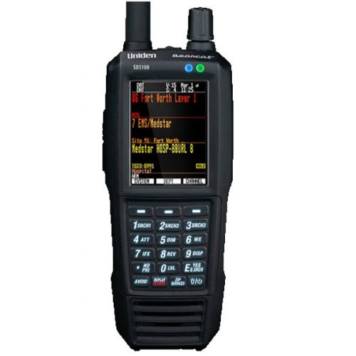 Uniden SDS-100E True I/Q Scanner Analoog en Digitaal wide band
