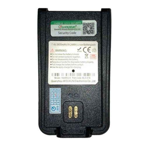 Wouxun BLO-016 accu 2600 Mah voor Wouxun KG-968 / KG-D828 / KG-D58 / KG-939