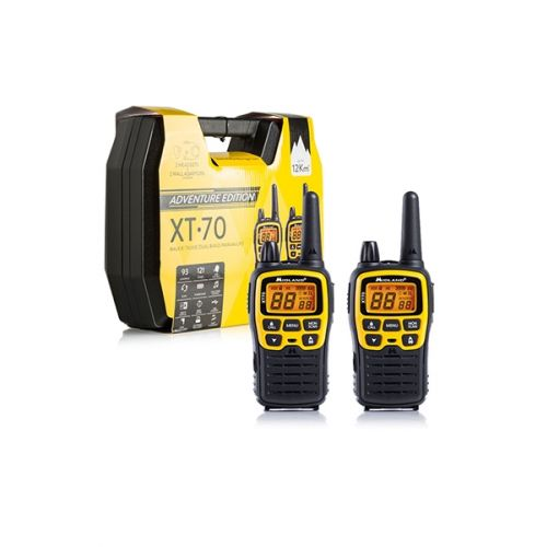 Midland XT70 Adventure PMR446 walkie talkie set met koffer