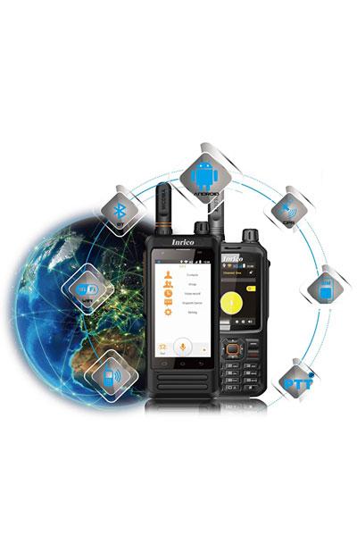 Een app op je portofoon of walkie talkie